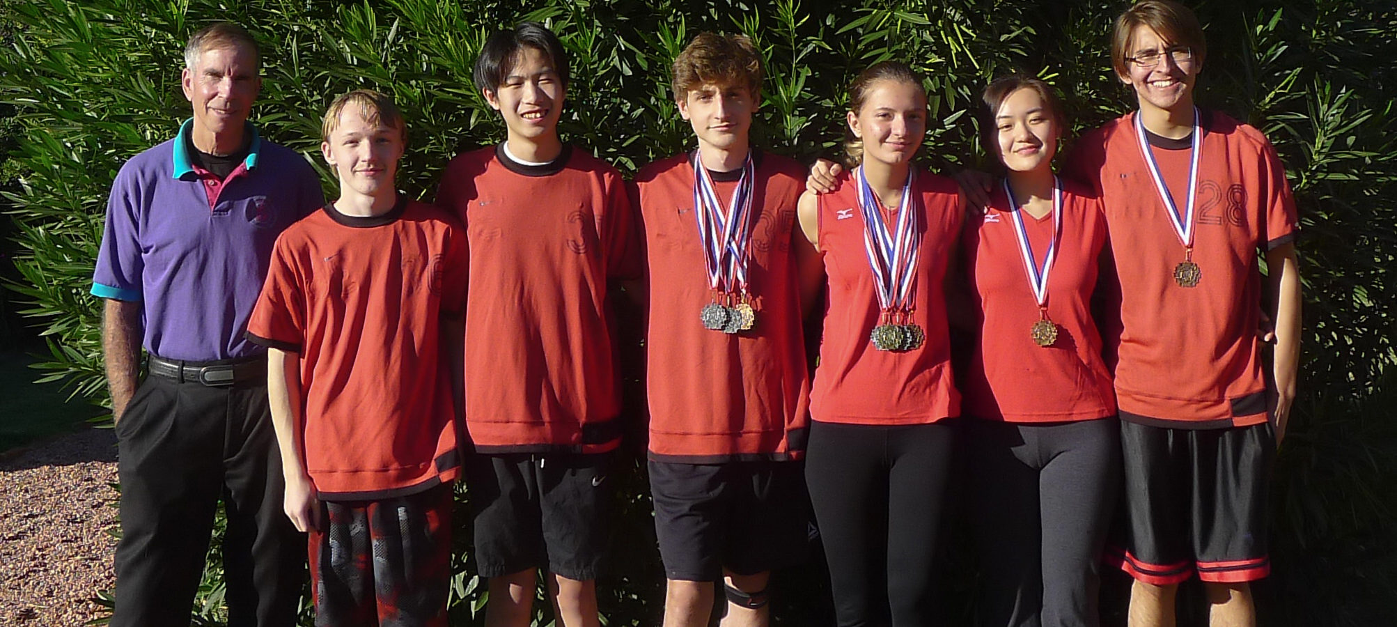Coach Huber, Kevin Bermingham, Maxwell Zhang, Premton Canamusa, Toska Ymerhalili, Stephanie Feng, Ramiro Flores Acosta